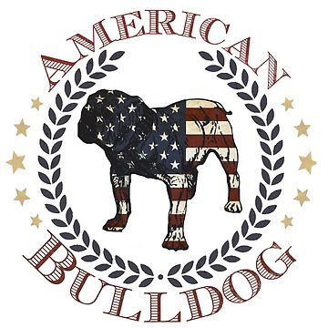 Patriotic American Bulldog Design by JennitechDesign