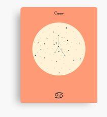 Cancer - Pink Canvas Print