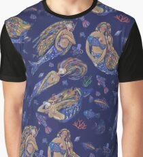 Mermaids divers  pattern. Graphic T-Shirt