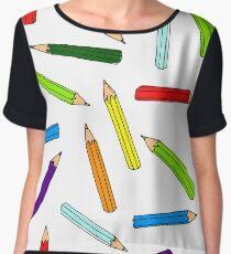 Colorful pencils pattern Chiffon Top