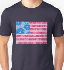 Watercolor Boho Vintage American Flag - Alternate Unisex T-Shirt
