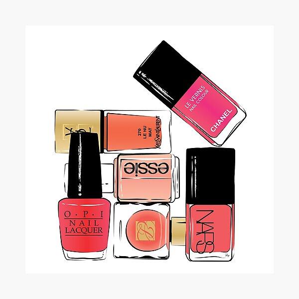 Nail Polish Beauty illustration Photographic Print