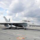 Ein EA-18G Growler startet von USS George HW Bush. von StocktrekImages