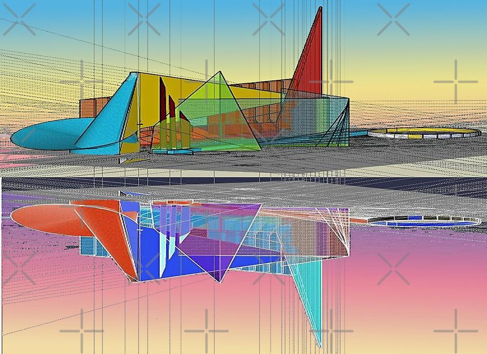 Ethereal reflections [sketchup exploration] by don quackenbush