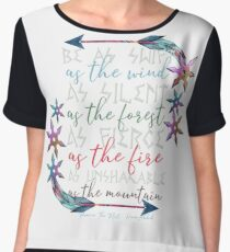 flame in the mist v1 Chiffon Top