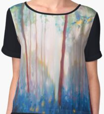 ubilant Spring - a Sussex bluebell landscape painting Chiffon Top