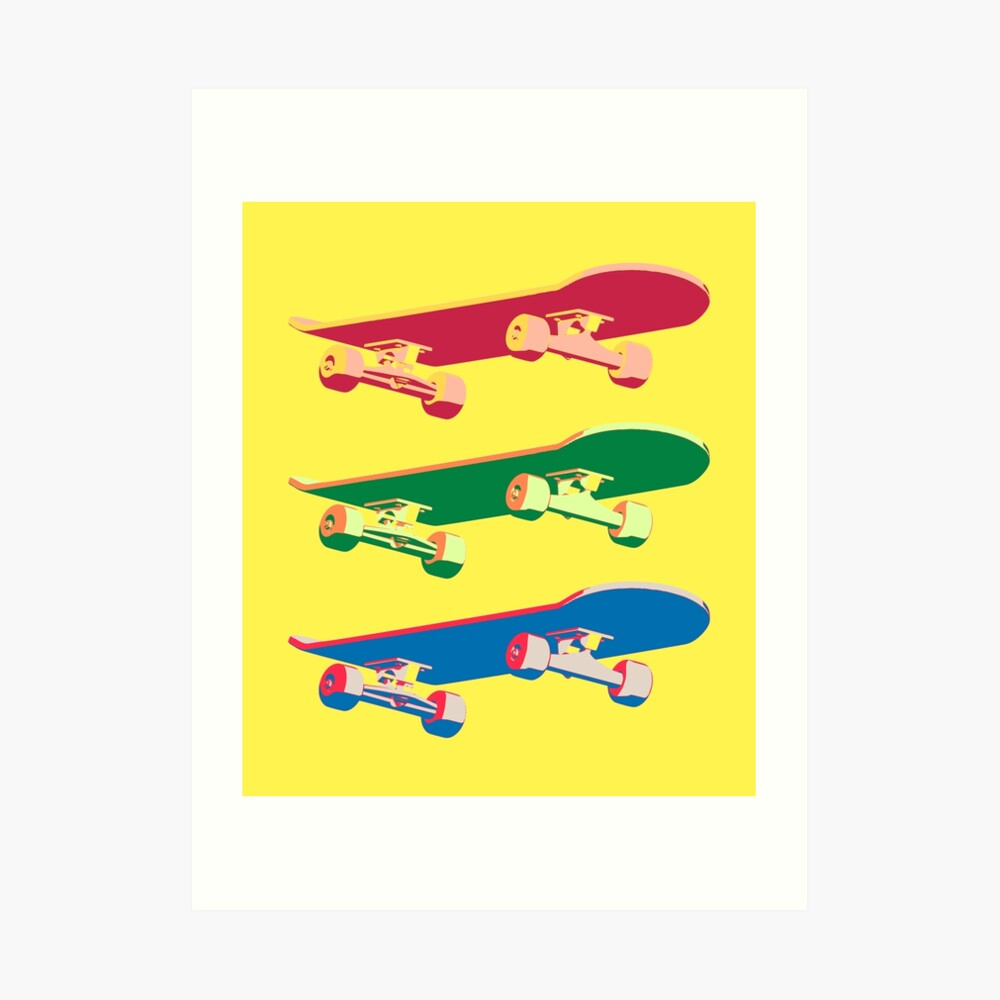 Three Skateboards Art Print