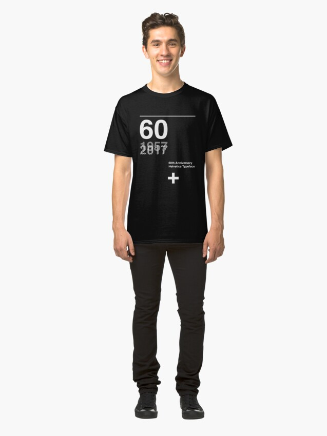 Alternate view of 60th Anniversary  Helvetica Typeface Classic T-Shirt
