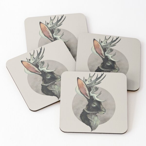 Jackalope Coasters (Set of 4)