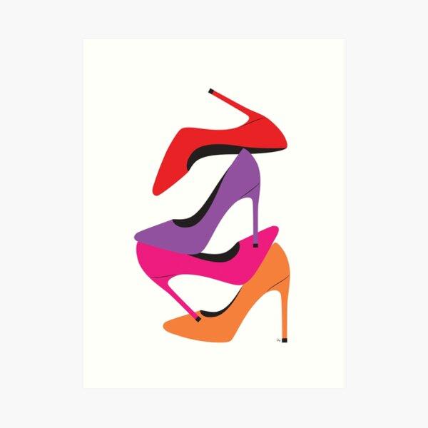 Bright Heels Art Print