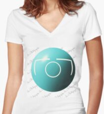I'm a Photographer Women's Fitted V-Neck T-Shirt