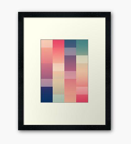 Abstract Sunset #redbubble #decor #buyart Framed Print
