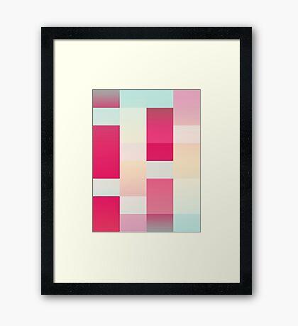 Abstract Dawn #redbubble #decor #buyart Framed Print