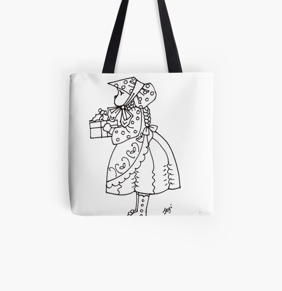 Little bonnet girl All Over Print Tote Bag