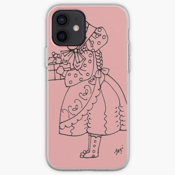 Little bonnet girl iPhone Soft Case