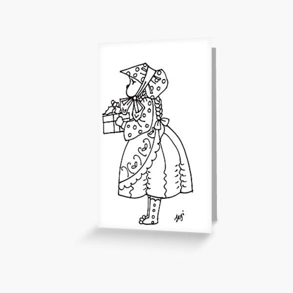 Little bonnet girl Greeting Card