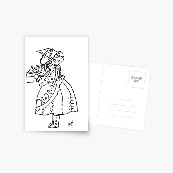 Little bonnet girl Postcard