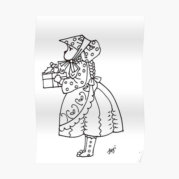Little bonnet girl Poster