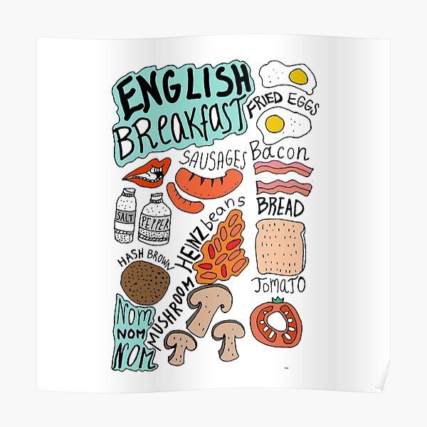 English Breakfast Poster