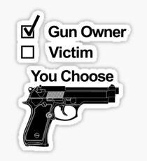 Gun Owner Victim You Choose Sticker