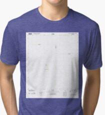 USGS TOPO Map Florida FL Custard Apple Hammock 20120709 TM Tri-blend T-Shirt