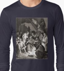Bible New Testament Gustave Dore or Doré Peter denies that he is one of Jesus's Disciples Long Sleeve T-Shirt
