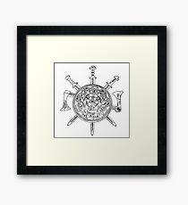 Shields and Swords Framed Print