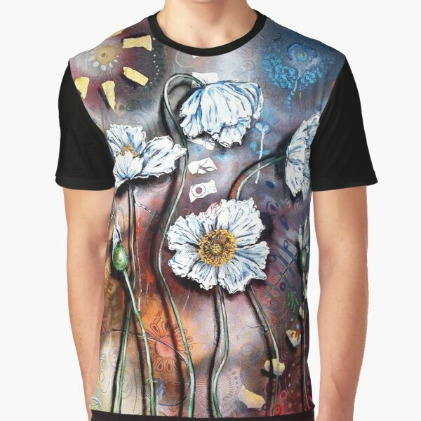 White Poppies (Finding Beauty in Chaos Series) Graphic T-Shirt