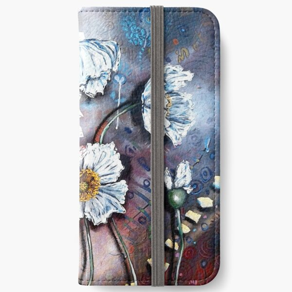 White Poppies (Finding Beauty in Chaos Series) iPhone Wallet