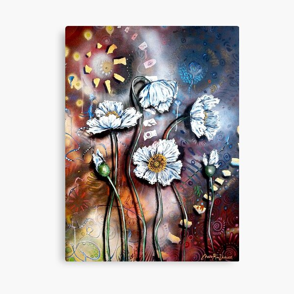 White Poppies (Finding Beauty in Chaos Series) Canvas Print
