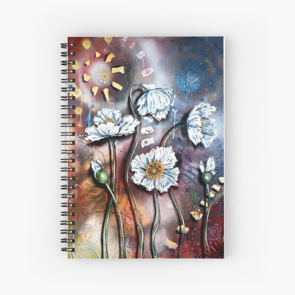 White Poppies (Finding Beauty in Chaos Series) Spiral Notebook
