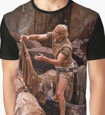 Morocco. Fes. Fes el Bali. Tanneries. Workman. Graphic T-Shirt