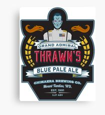 Grand Admiral Thrawn's Blue Pale Ale Canvas Print