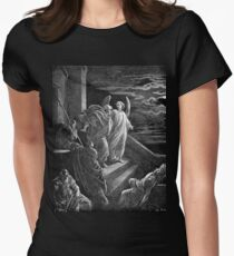 Bible New Testament Gustave Dore or Doré Peter's Escape from Prison Womens Fitted T-Shirt