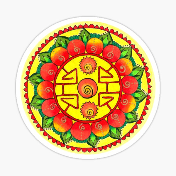 Intention Mandala: Abundance Sticker