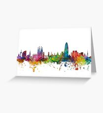 Barcelona Spain Skyline Greeting Card