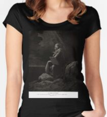 Bible New Testament Gustave Dore or Doré St Johnat Patmos Women's Fitted Scoop T-Shirt