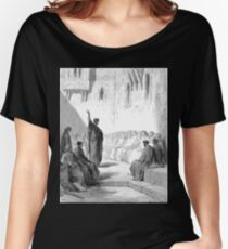 Bible New Testament Gustave Dore or Doré St Paul Preaching to the Thessalonians Women's Relaxed Fit T-Shirt