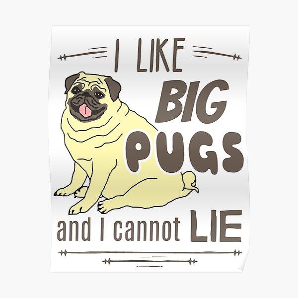 I like big pugs, and I cannot lie Poster