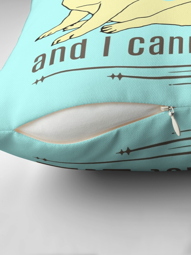 Alternate view of I like big pugs, and I cannot lie Throw Pillow