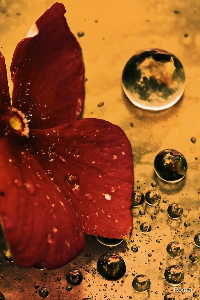 Metallic Flower by Romar