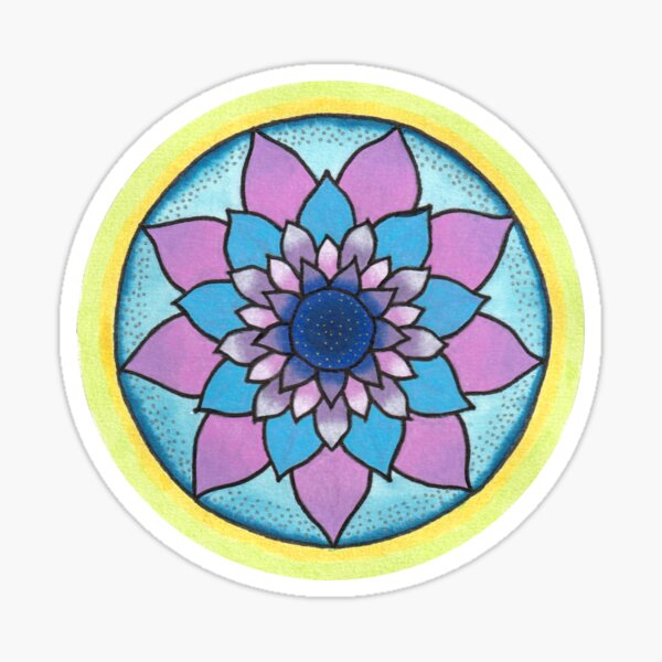 Intention Mandala: Sleep time Sticker