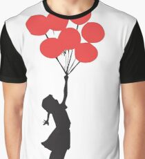 Banksy - Red Balloons Graphic T-Shirt