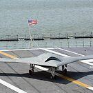 Ein X-47B unbemanntes Kampfluftsystem. von StocktrekImages