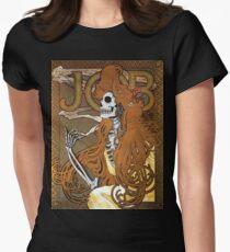 Alphonse Mucha - 'JOB' cigarette paper (1896) Skeleton Version Women's Fitted T-Shirt