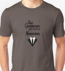 Real Gentlemen are born in November Ryh2z Unisex T-Shirt