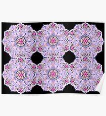 Mandala magic pink Poster