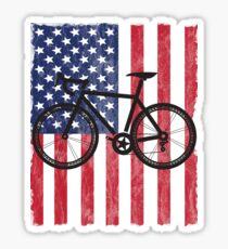 USA Flag Cycling Design Sticker