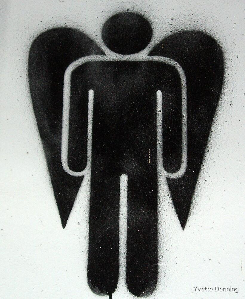 Graffiti Angel Man by Yvette Denning