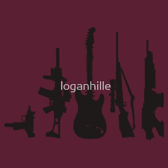 TShirtGifter presents: Guns and guitars